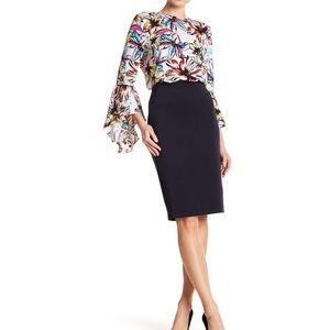 NWT Catherine Malandrino Solid Slim Skirt